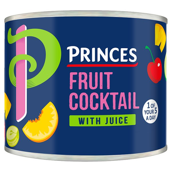 Princes Fruit Cocktail with Juice 220g (Drained Weight 136g)