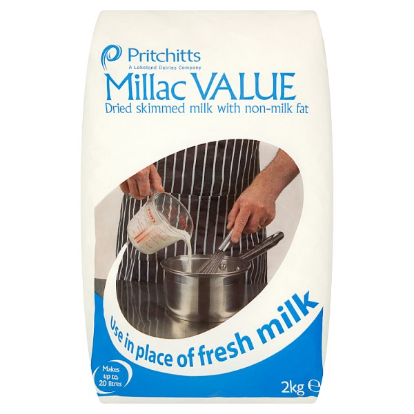 Pritchitts Millac Value Skimmed Milk with Non-Milk Fat 2kg