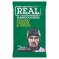 Real Handcooked Strong Cheese & Onion Flavour Potato Crisps 50g