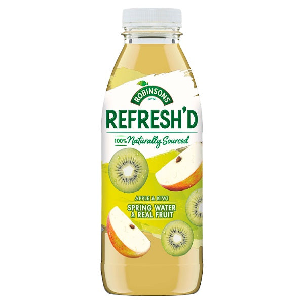 Robinsons Refresh'd Apple & Kiwi Spring Water with Real Fruit 500ml