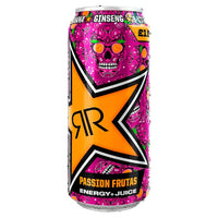 Rockstar Baja Juiced Passion Frutas Energy Drink Can 500ml,