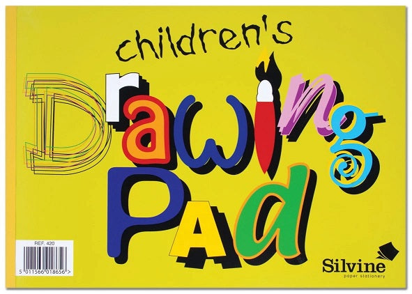 SILVINE A4 CHILDREN'S DRAWING PAD 20 SHEETS 420
