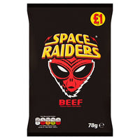 Space Raiders Beef Flavour Cosmic Corn Snacks 78g