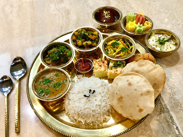 Vegetarian Thali Lunch Meal for 2