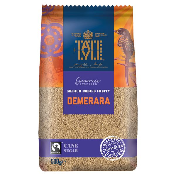 Tate & Lyle Fairtrade Guyanese Inspired Demerara Cane Sugar 500g