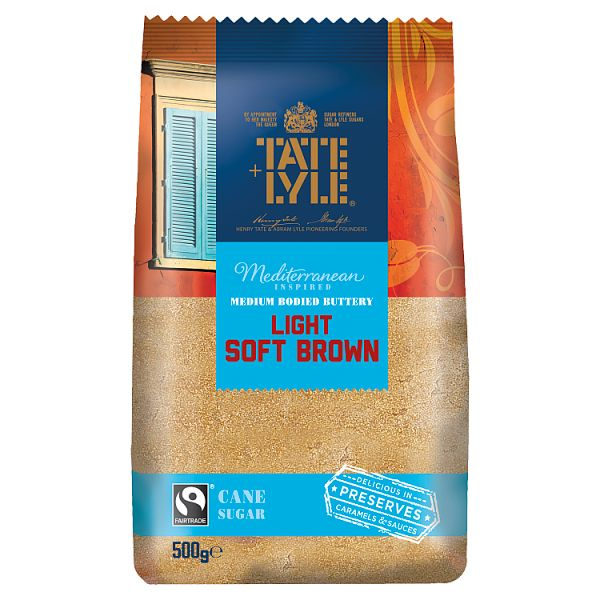 Tate & Lyle Mediterranean Inspired Light Soft Brown Cane Sugar 500g