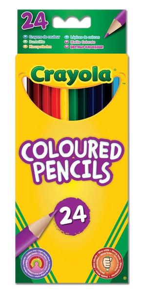 CRAYOLA 24 COLOURED PENCILS HANG PACK 03.3624
