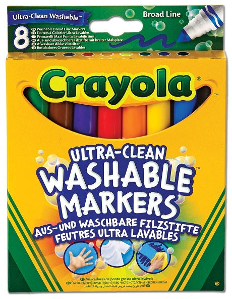 CRAYOLA 8 WASHABLE MARKERS HANG PACK 58-8328-E-000