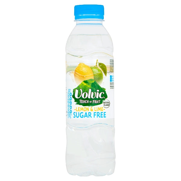 Volvic Touch of Fruit Sugar Free Lemon & Lime Natural Flavoured Water 500ml