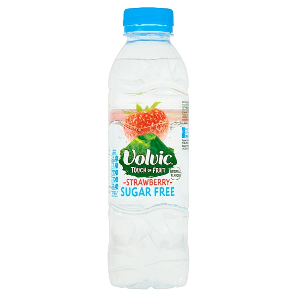 Volvic Touch of Fruit Sugar Free Strawberry Natural Flavoured Water 500ml