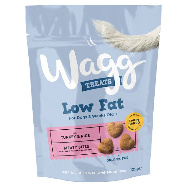 Wagg Low Fat Treats with Turkey & Rice 125g