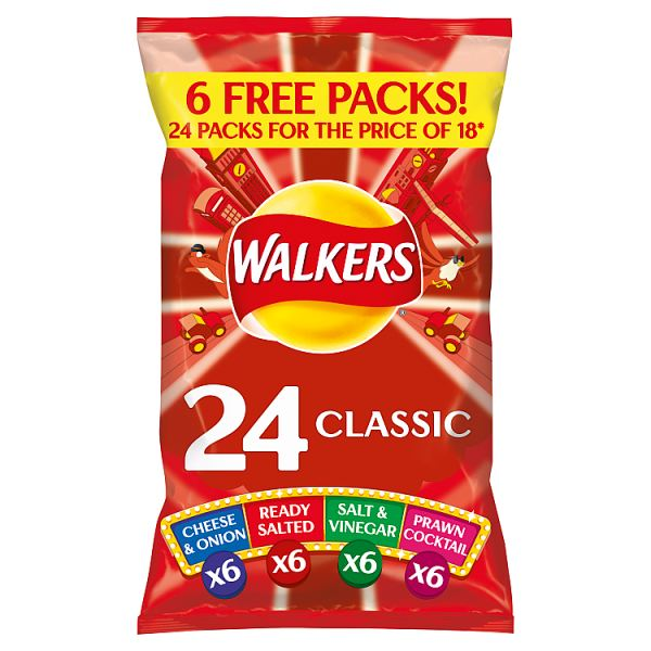 Walkers Classic Variety Crisps 24x25g
