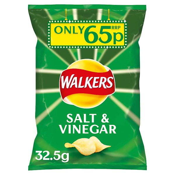 Walkers Salt & Vinegar Crisps 65p