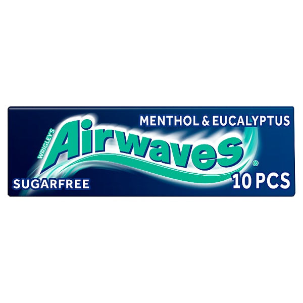 Airwaves Menthol & Eucalyptus Sugar Free Chewing Gum 10 Pieces