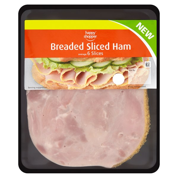 Happy Shopper Breaded Sliced Ham 6 Slices 125g