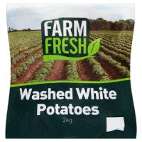 Farm Fresh Washed White Potatoes 2kg