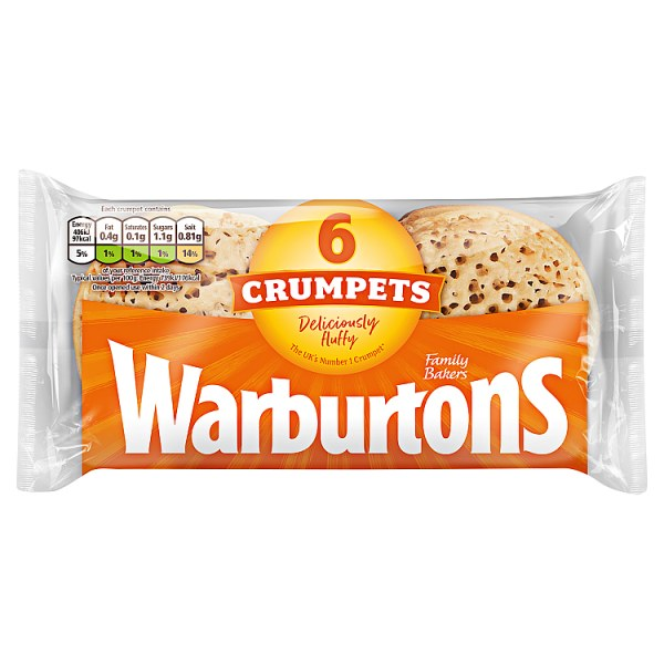 Warbutrons 6 Crumpets