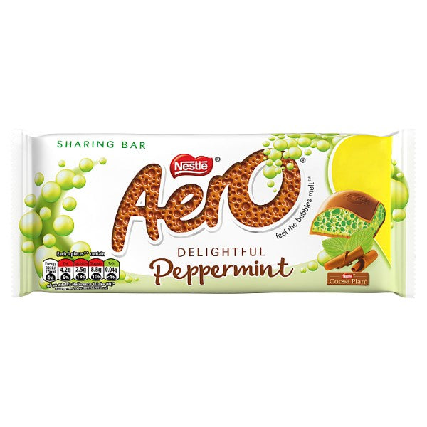 Aero Peppermint Mint Chocolate Sharing Bar 100g