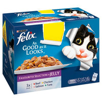Felix As Good As It Looks Cat Food Favourites 12 x 100g