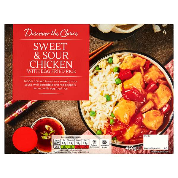 Discover the Choice sweet & sour Chicken with Egg Fried Rice