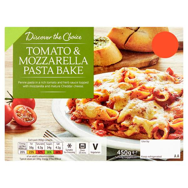 Discover the Choice Tomato & Mozzarella Pasta Bake