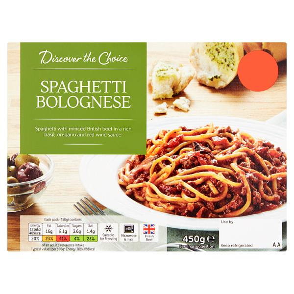 Discover the Choice Spaghetti Bolognese
