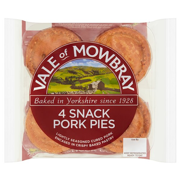 VOM SNACK PORK PIE 4PK