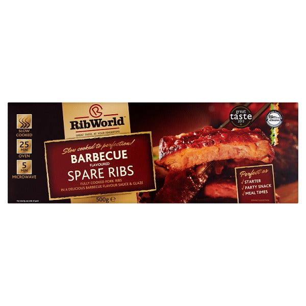 Rib World Barbecue Flavoured Spare Ribs 500g