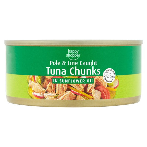Happy Shopper Tuna Chunks in Sunflower Oil 160g (Drained Weight 112g)
