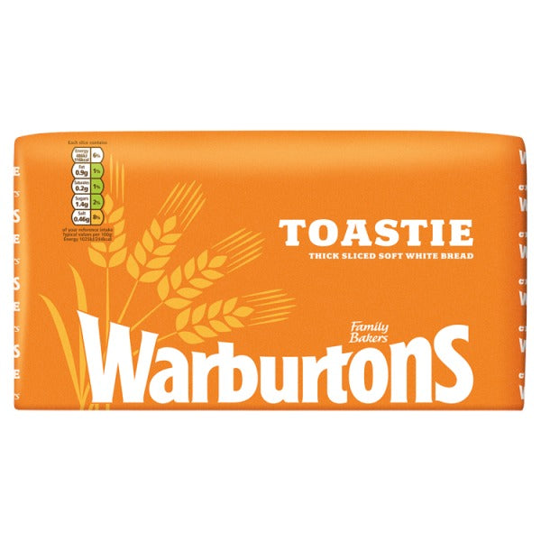 Warburtons Toastie Thick Sliced Soft White Bread 800g