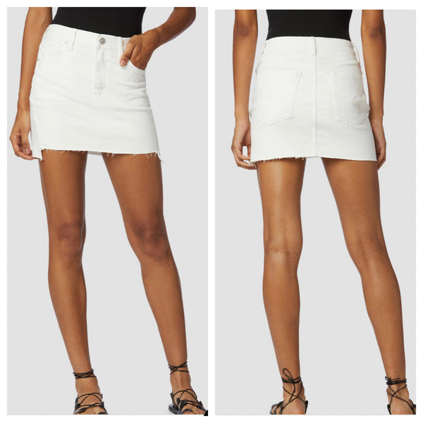 VIXEN WHITE DENIM SKIRT
