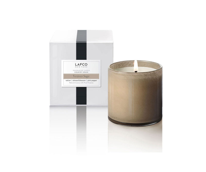 "LAFCO ""Vetiver Sage"" Classic 6.5oz Candle"
