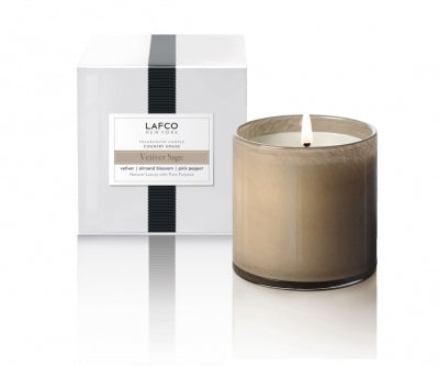 "LAFCO ""Vetiver Sage"" Signature 15.5oz Candle"