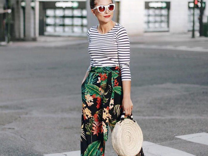 Embrace floral/printed pants