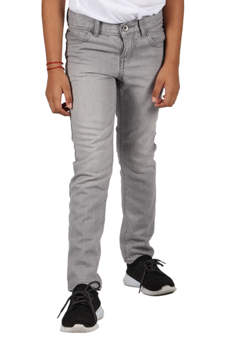 Boys Straight Cut Jeans - Grey   - Jam Clothing