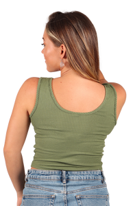 Ribbed Crop Top   - Jam Clothing