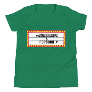 Minecraft and popcorn Children's Tee shirt