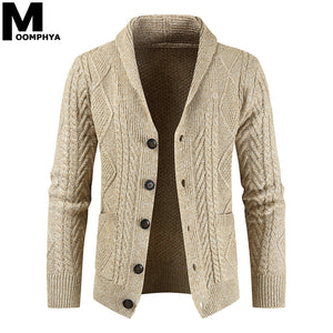 Men's Knitted Long Sleeve Cardigan Jacket