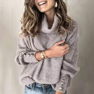 Women's Loose Fit Turtleneck Sweater