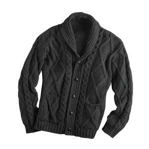 Men's Casual Knitted Button Up Cardigan Sweater with Pockets