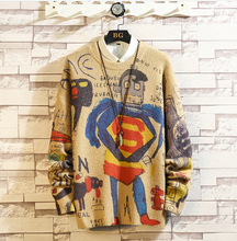 Load image into Gallery viewer, Men's Superman Print Slim Fit Knitted Sweaters