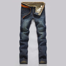 Load image into Gallery viewer, Men's Casual Mid-Rise Straight Denim Jeans