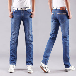 Men's Casual Mid-Rise Straight Denim Jeans