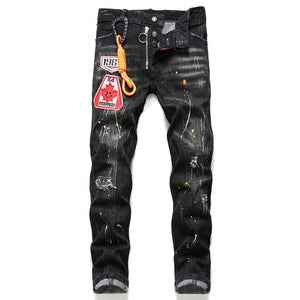 DSQ2 Men's Paint Splash Patch Jeans