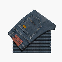 Load image into Gallery viewer, Men's Straight Regular Stretch Denim Jeans