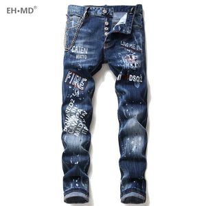 EH · MD®  Distressed Jeans