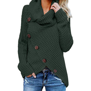 Womens Knitted Turtleneck Sweater