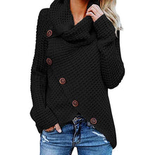 Load image into Gallery viewer, Womens Knitted Turtleneck Sweater