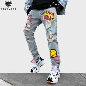 Men's Graffiti Denim Pants