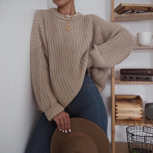 Load image into Gallery viewer, Women's Elegant Knitted Oversized Sweater (One Size)